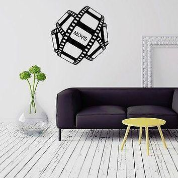 Wall Vinyl Sticker Movie Cinema Film Filmstrip Entertainment Room Decor Unique Gift (ig2065)