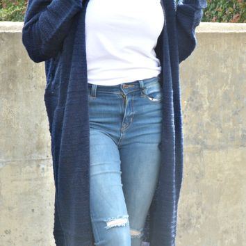 You Got This Cardigan - Navy