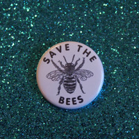 """save the bees pin 