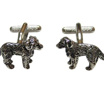 Textured Labrador Dog Cufflinks