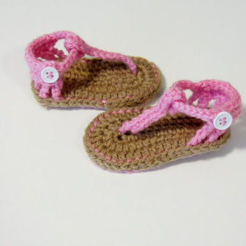 Baby crochet summer sandals, pink sandals, baby sandals summer shoes, summer sandals, pink baby sandals, ankle strap sandals, summer booties
