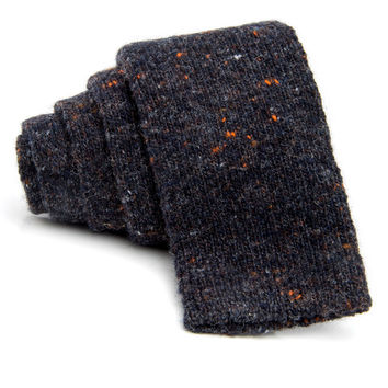 Eidos Napoli Charcoal Speckled Knit Tie