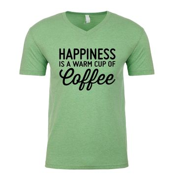 Happiness Is A Warm Cup Of Coffee Men's V Neck