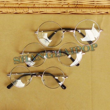 Clear Lens Glasses 60's Round Sunglasses Frame Vintage Retro Penny Hippy Fashion