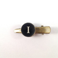 "Vintage ""I"" Typewriter Key Hair Clip 311-110"