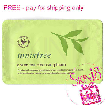 Freebies - Innisfree Green Tea Cleansing Foam (Sample Pack)  *exp.date 12/19