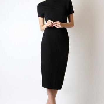 Mock Neck Dress