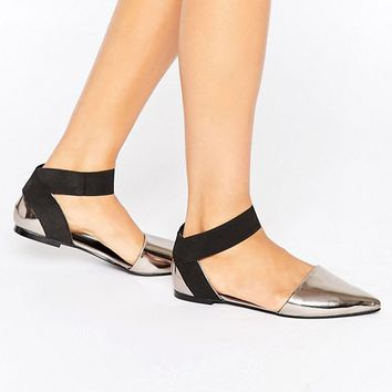 ASOS LORELLE Pointed Ballet Flats at asos.com