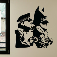 Banksy Arresting Hero Wall Decals