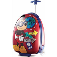 "Mickey Mouse 18"" ABS Hard Shell Rolling Wheeled Luggage Suitcase"
