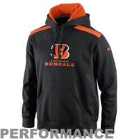 Nike Cincinnati Bengals Shield Nailhead Performance Hoodie - Black