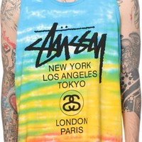 Stussy World Tour Tie Dye Tank Top