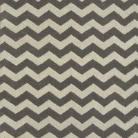 ADC Rugs Chevron Zig Zag Handamde Wool Area Rug, 8-Feet by 10-Feet, Gray and Ivory
