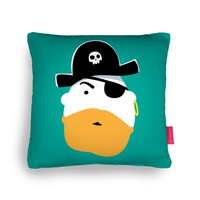 Red Beard Pirate Cushion by Andy Fielding | Ohh Deer