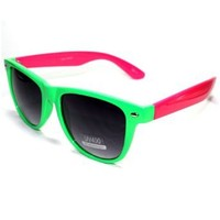 Sonic S1 Style 5 80'S Retro Vintage Neon Color Wayfarer Style Men's Women's Pool Beach Outdoors Sunglasses with Protective Soft Pouch