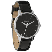 Nixon The Kensington Leather Watch Black Patent One Size For Women 22194910001
