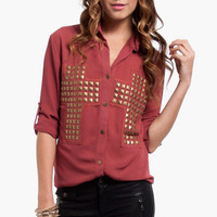 Studded Confessions Shirt $30