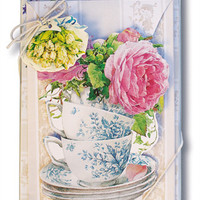 Tea and Rose Garden Note Cards
