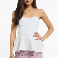 Sweetheart Peplum Top $26