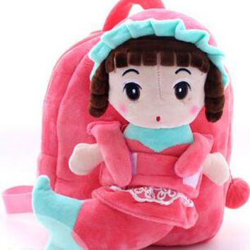 Cool Backpack school Gift for baby 1pc 25cm stereo pretty mermaid shy girl plush doll cute cool children backpacks Satchel shoulder bag AT_52_3
