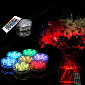 submersible LED candle waterproof wedding centerpieces party decoration electronic candle lantern hookah base light halloween
