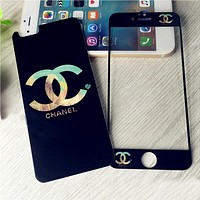 Fashion Black Tempered Glass Screen Protecter for iPhone