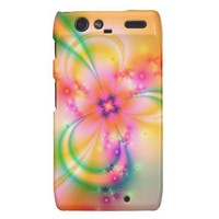 Pretty Flower With Ribbons Motorola Droid Razr Case from Zazzle.com