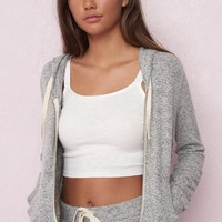Soft Hoodie With Ruched Sleeves