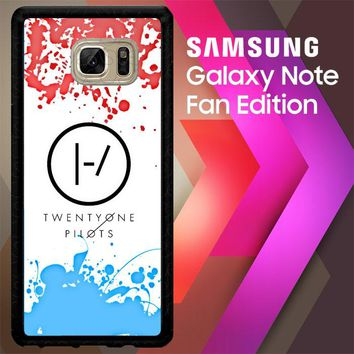 21 Twenty One Pilots Red Blue Z4417 Samsung Galaxy Note FE Fan Edition Case