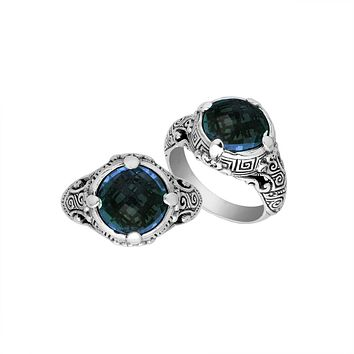 "AR-6232-LBT-10"" Sterling Silver Ring With London Blue Topaz"