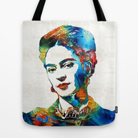 Frida Kahlo Art - Viva La Frida - By Sharon Cummings Tote Bag by Sharon Cummings