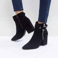 RAID Audra Black Heeled Ankle Boots at asos.com
