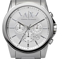 Men's AX Armani Exchange Round Chronograph Watch, 45mm