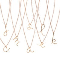 Handwritten Initial Rose Gold Vermeil Necklace
