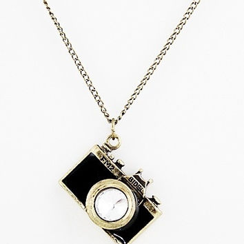 New Arrival Individual Vintage Black Camera Necklace = 1946843972