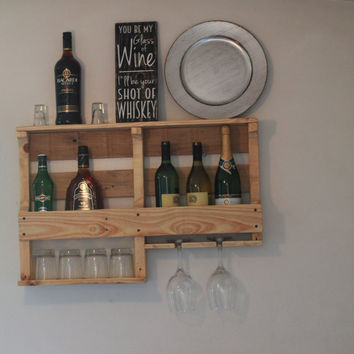 customizable wine rack, wood wine rack, his and hers wine rack, rustic wine rack, liquor rack, wine rack wall, his and her's wine rack