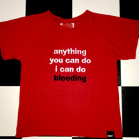 SWEET LORD O'MIGHTY! I CAN DO BLEEDING CROP TEE