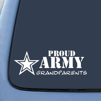 Proud Army Grandparents  Logo Vinyl Sticker Decal Car Truck Windon Wall Laptop notebook