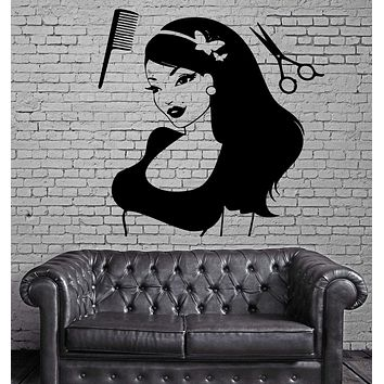 Hair Beauty Salon Barbershop Spa Salon Decor Wall Stickers Vinyl Decal (z2268)