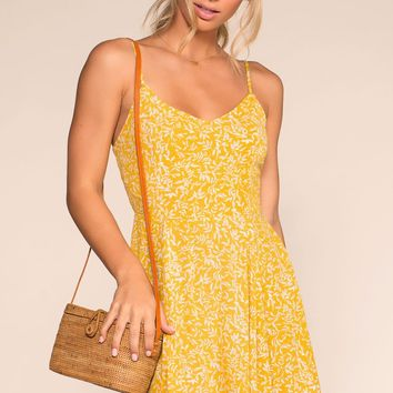Walking On Sunshine Dress - Yellow