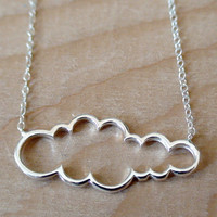CLOUD Sterling Silver Charm with a Sterling Silver by AgHalo
