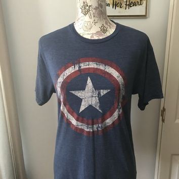Captain America T Shirt from Marvel Size S EUC