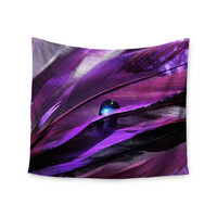 """Susan Sanders """"Birds of a Feather"""" Nature Purple Wall Tapestry"""