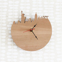 New York Modern Wall Clock  Statue of Liberty Empire by iluxo