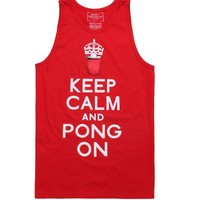 Riot Society Pong On Tank Top - Mens Tee - Red -
