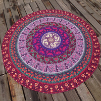 Soft Comfortable Ethnic Summer Beach Towel Printed Bohemian Cover Ups Scarves Wrap Pareo gift