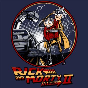 Rick and Morty Back To The Future 2 T-Shirt