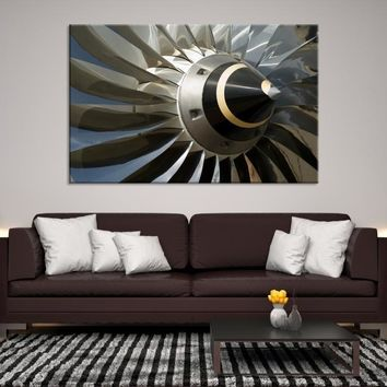 74471 - Extra Large Airplane Propeller Close-up Canvas, Propeller Wall Art, Airplane Canvas, Aviation Wall Art, Large Wall Art, Large Canvas Print, Framed Canvas Print