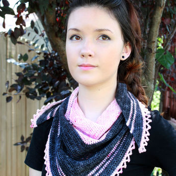 Lotus Shawlette - Crochet Pattern Instant Download