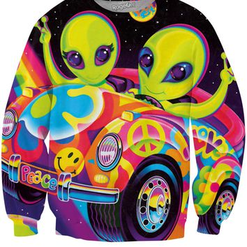 Peace Aliens Crewneck Sweatshirt